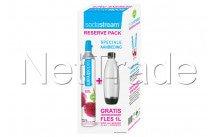 Sodastream - Pack especial: 1 cilindro de alquiler + gratis botella de 1 litro para play en source dispositivos - 1053003310