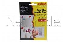 Facom - Pastillas adhesivas doble lado 25 piezas. - 84107