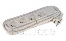 Universal - Tcd blanco 4 x 16 a. cable 3 m. empaquetado
