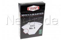 Moccamaster - Papel de filtro no. 4 (100 uds.) - 85022
