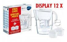 Brita - Fill&enjoy marella cool blanco 2.4l + 2 maxtra display 12 stuks - 1040954