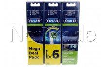Oral-b - Cabezales de cepillo de dientes  eb50 rb crossaction refills 2+2+2 - 80339534