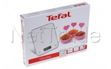Tefal - Bc5004v2 báscula de cocina optiss  - 5kg  -  silver - BC5004V2