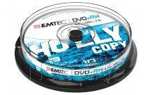 Emtec dvd+rw 4,7gb 4x cb cakebox (10 pzs) - ECOVPRW47104CB