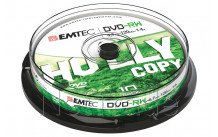 Emtec dvd-rw 4,7gb 4x cb cakebox (10 pcs) - ECOVRW47104CB