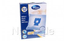 Wpro - Bolsa para aspiradora miele micro fibra mi130-mw - fjm - gn - 4 piezas - 481281718628