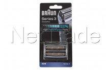 Braun - Láminas de recambio+portacuchillas - serie 3 - 32s - plateado - 81633297