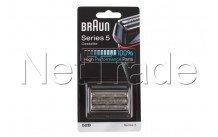 Braun - Combi pack/cabezal de recambio para afeitadora- serie 5 - 52b - negro - 81631167