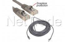 C2g cables - Cable de par trenzado (utp) 5m - cat5e 350mhz - rj45 (m) grey snagless protection - 83145