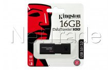 Kingston datatraveler 100 generation 3 - 16gb usb3.1 unidad flash negra - DT100G316GB