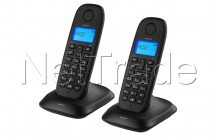 Topcom - Teléfono inalámbrico dect - twin guía telefónica negra - visualización del número - TE5732