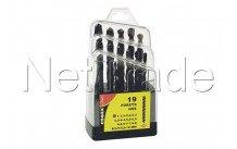 Cogex - Taladro de metal hss 1 x 10 mm - 19 piezas - embalaje de caja - 24217