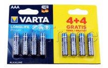 Varta longlife power lr03 mn2400 aaa  bl. 4+4 - 4903121448