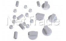 Universal - Kit universal de 5 botón blanco - 228600066