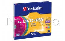 Verbatim 5 x dvd + rw 4.7 gb 4 x-slim jewel case - 43297
