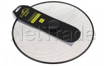 Crealys - Tapa antisalpicaduras diámetro 29 cm con tapón de baquelita inoxidable - 512741