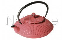 Crealys - Zwaan tetera de hierro 800 ml mandarina roja - 507151
