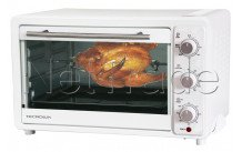 Tecnolux - Horno mini 33l 1600w blanco/acero inoxidable - GT33RC01