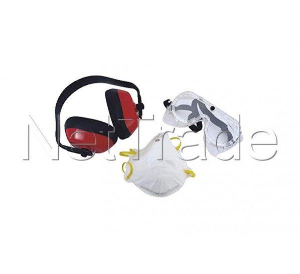 Cogex - Kit de seguridad - gafas - máscara - orejera - juego de 3 piezas. - 77501