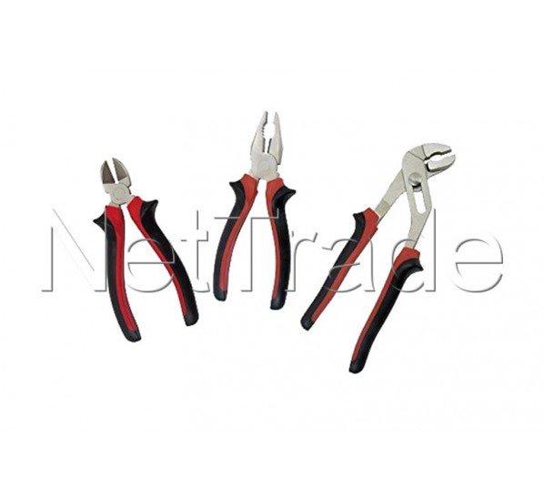 Cogex - Juego de 3 cuchillas laterales / universal / regleta de potencia mango de material doble - 11053