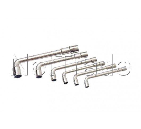 Cogex - Llave de tubo abierta 6 piezas de 8 a 17 mm - 3503