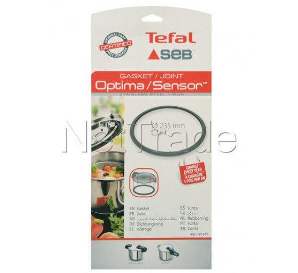 Seb - Afdichtingsrubber snelkookpan 8l - diam 235mm - tefal sensor / optima classic - 791947